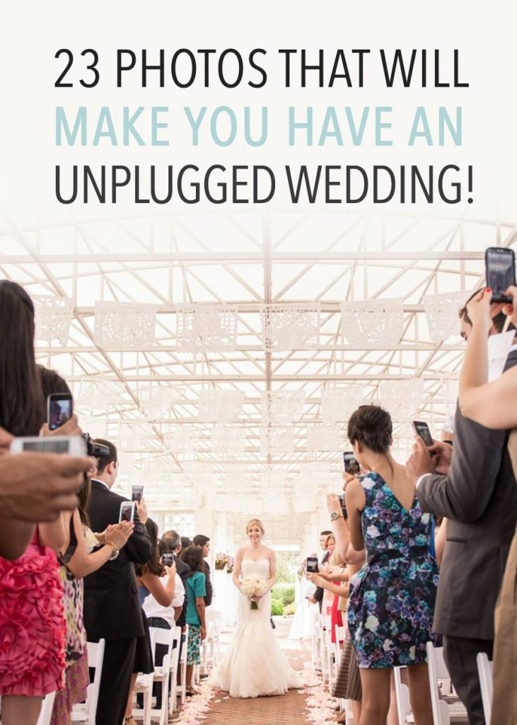 23 Photos that Will Make You have an Unplugged Wedding!
