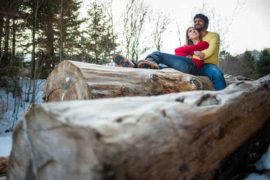 A Winter Engagement Shoot in Auvergne