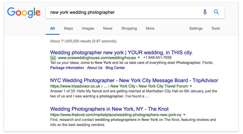 Choosing Your Photography Keywords