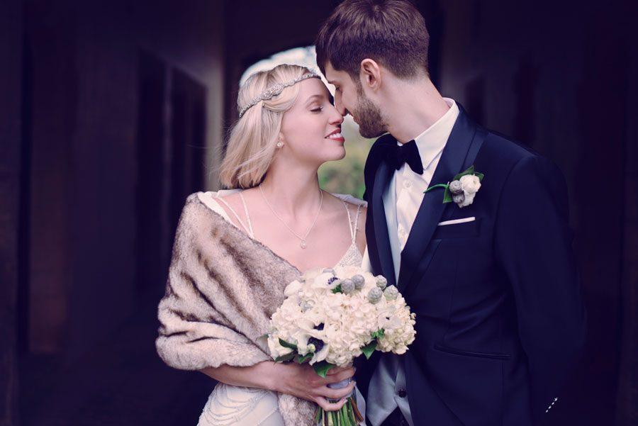 Great Gatsby Styled Wedding at Stapleford Park