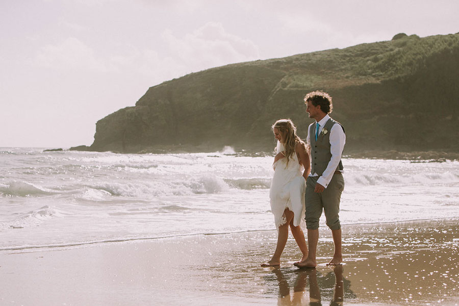Perranuthnoe Cornwall Beach Wedding