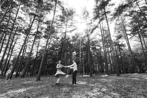 Fun Woodland Engagement Shoot