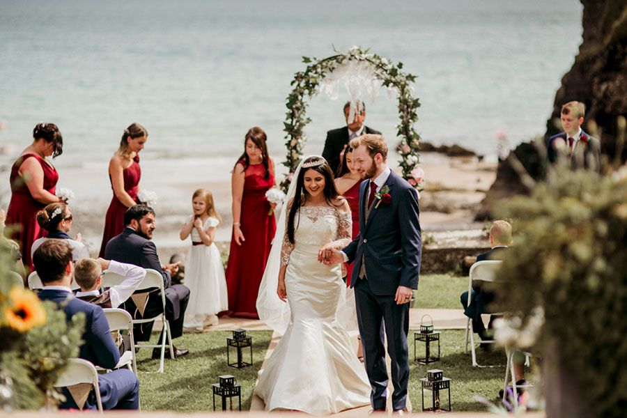 Kamilla and Aiden's Welsh Beach Wedding