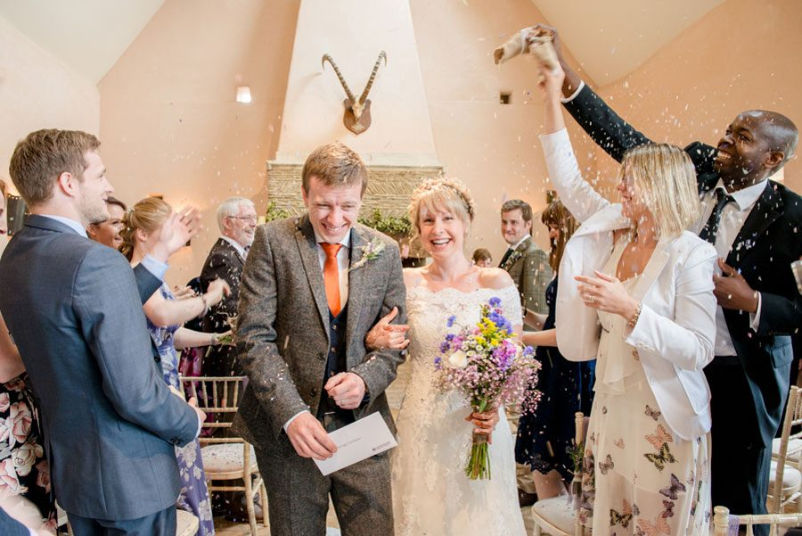 Rustic Oxleaze Barn Wedding, in the Cotswolds