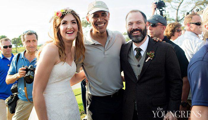 President Obama wedding photo bomb