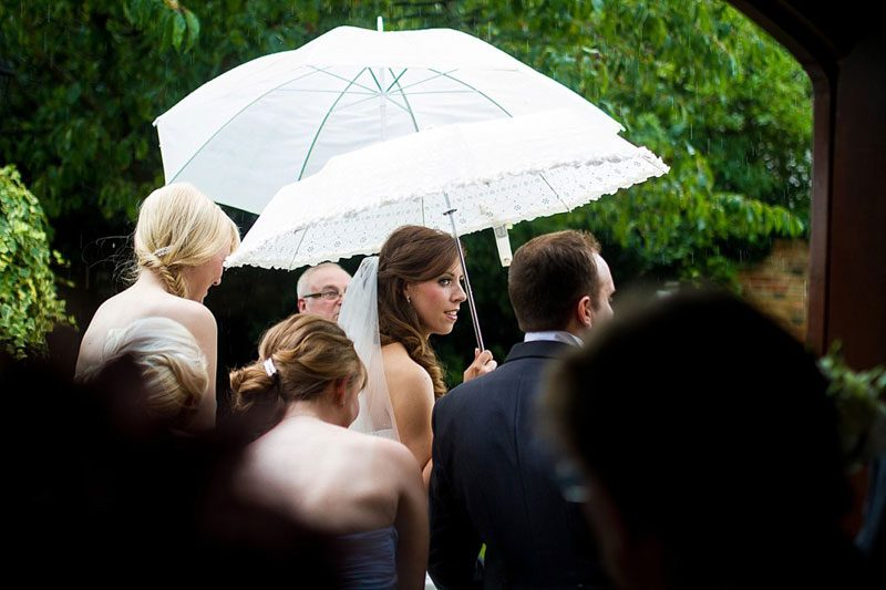 How to Cope if it Rains on your Wedding Day