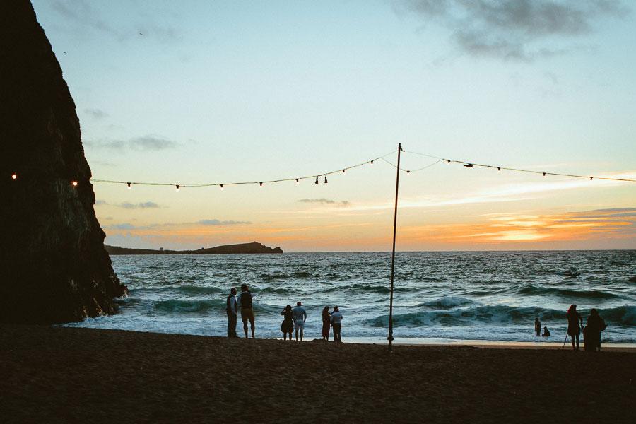 Lusty Glaze Beach Wedding in Cornwall