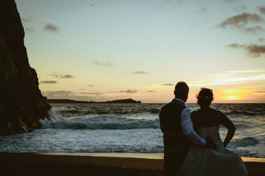 Beautiful Lusty Glaze Beach Wedding in Cornwall