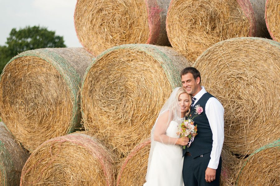 Family Farm Wedding & a Bucking Bronco!