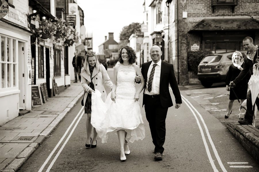 Wedding in the Sussex Market Town of Arundel