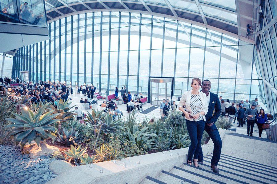 Wedding Proposal at Sky Garden