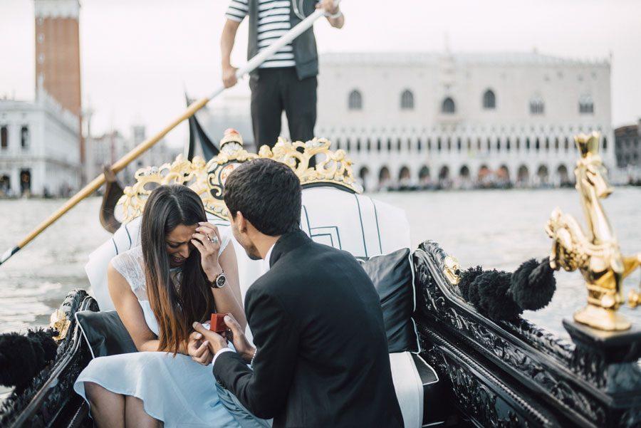 Venice Gondola Engagement Proposal