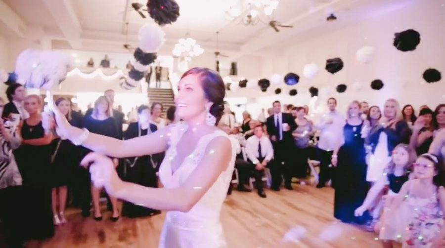 She went to throw her wedding bouquet… and then something beautiful happened…