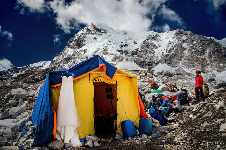 Mount Everest Wedding Photos by Charleton Churchill