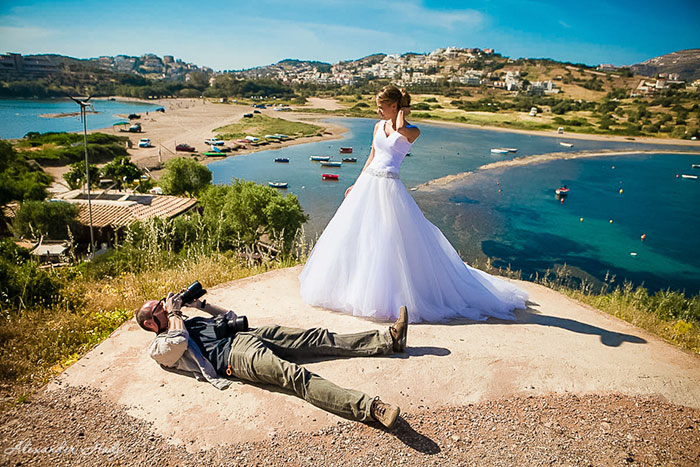 How Far Wedding Photographers go for that Perfect Shot