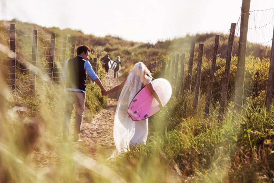 Surfers Wedding in Wales