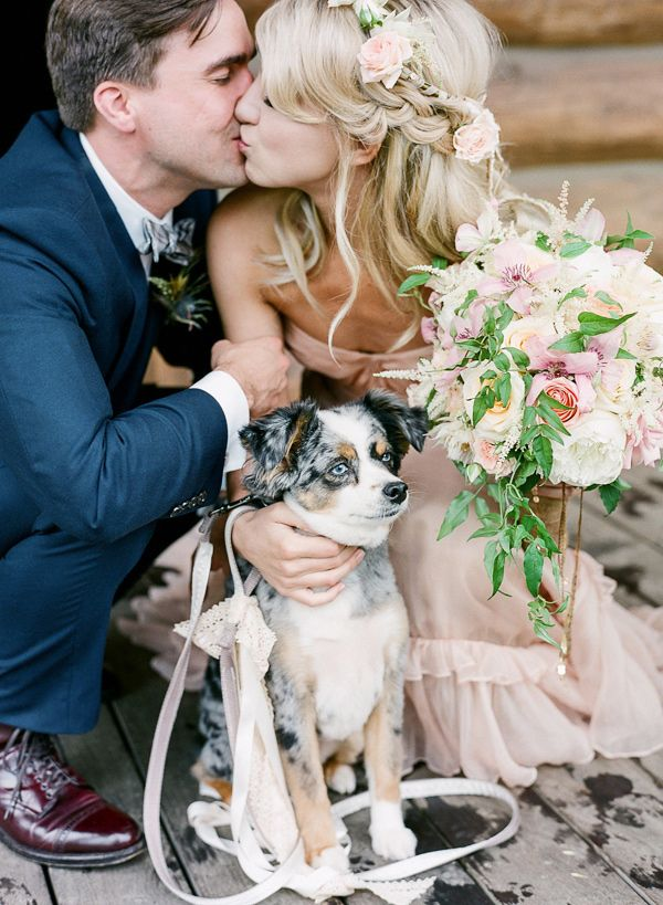newlyweds-and-their-pup