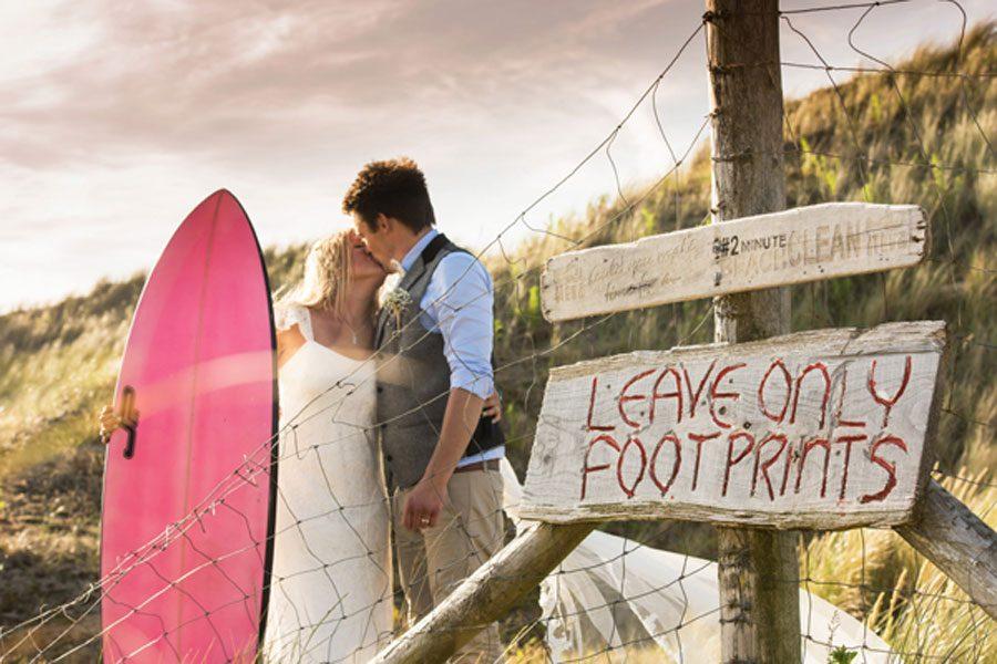 Jess & Tom's Surfers Wedding