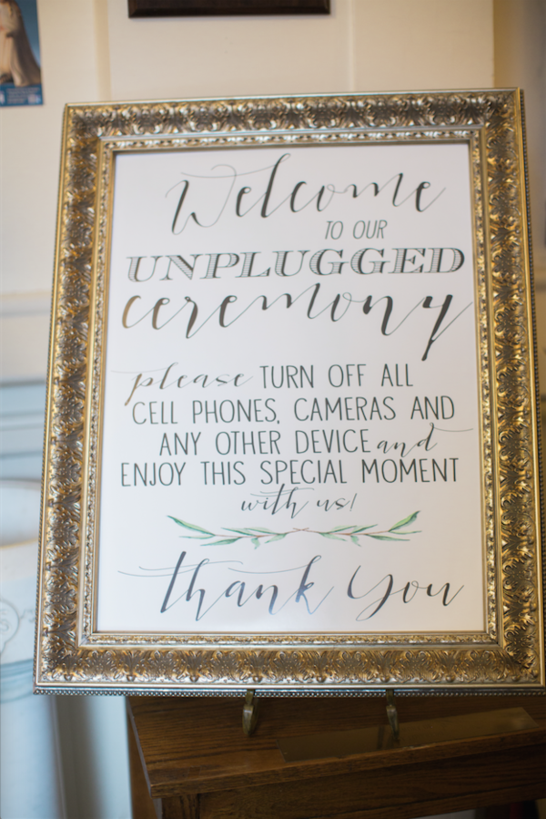 unplugged photo sign framed