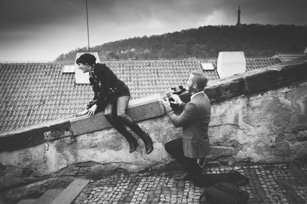 Surprise Engagement Proposal in Prague