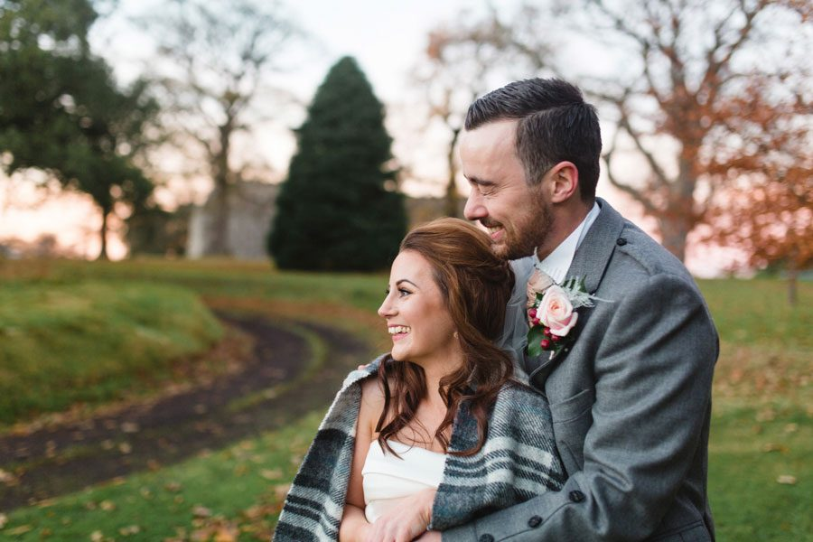 Dunglass Estate Snowy Wedding