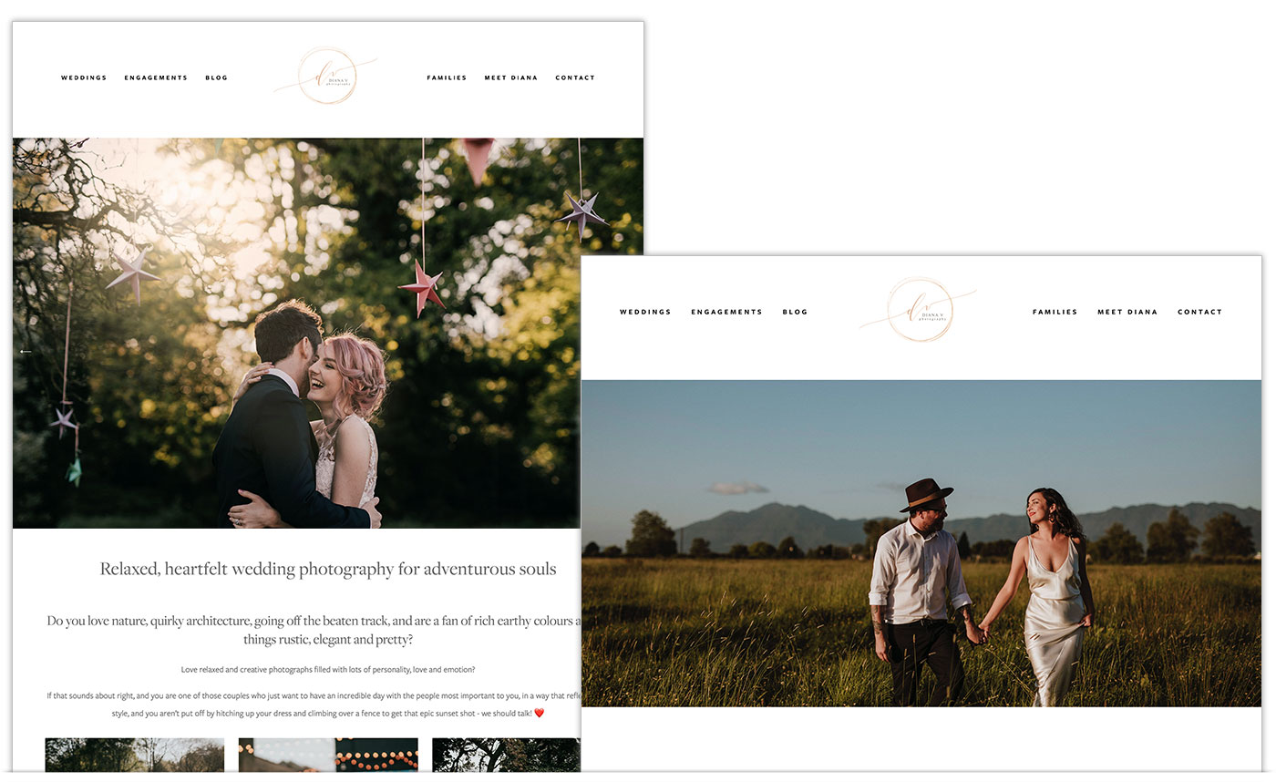 Photographer Website Designs