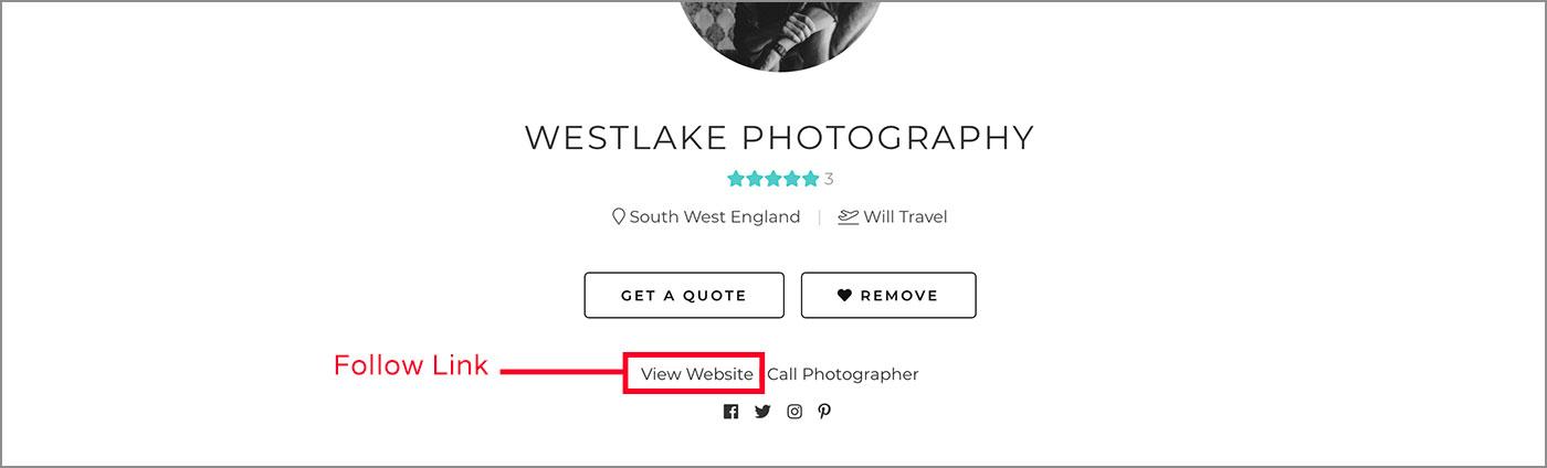 Wedding Photographer Back link
